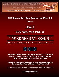 Wednesday Sun for Pick 3 Lottery Pairs..